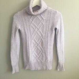 J. Crew Cambridge Cable Turtleneck Sweater